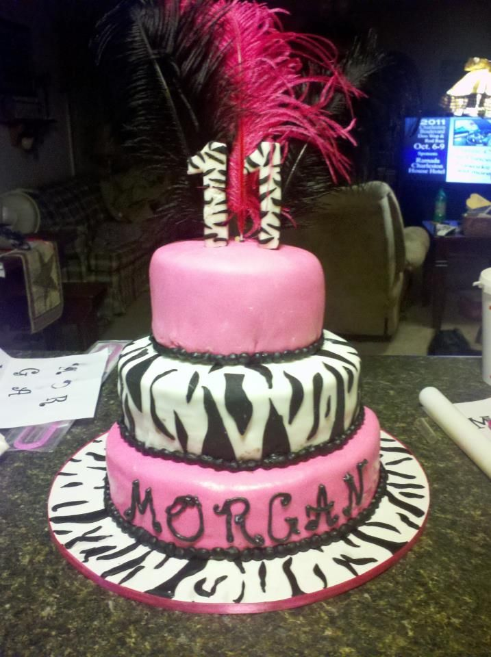 Cute Cake I Made For A Sweet 11 Year Old Girl With Images