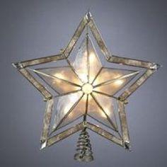 tree topper 10 light 5 point star with smoke capiz christmas store