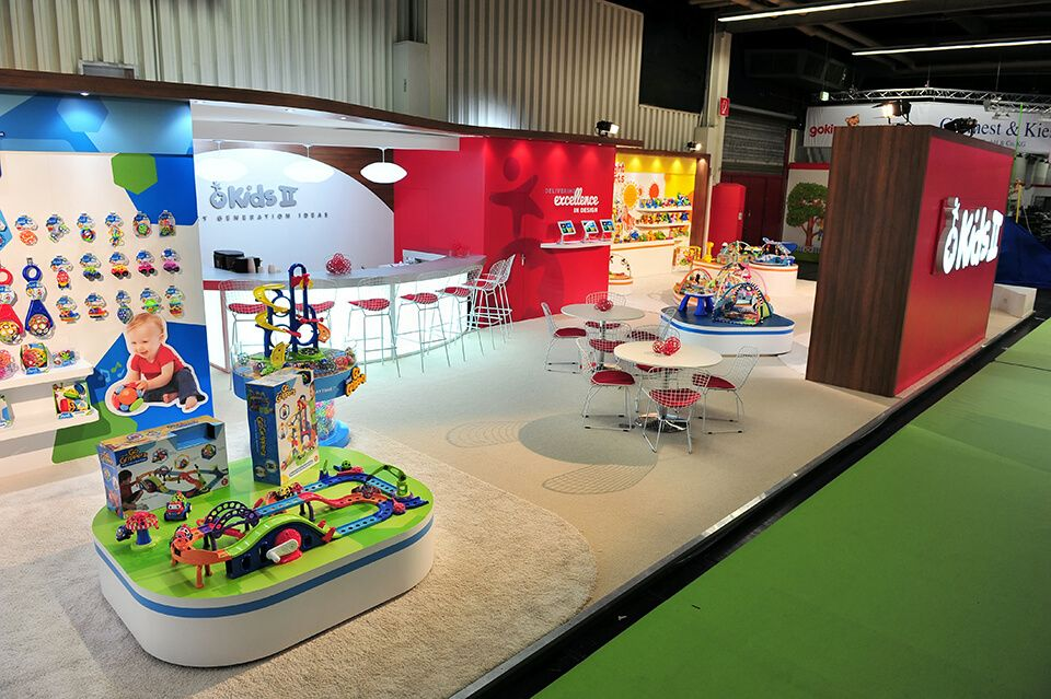 Kids Exhibition Booth : Exhibition stand for kids ii at spielwarenmesse