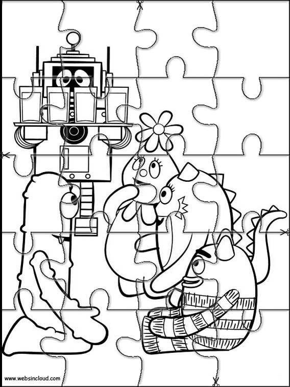 Aktivitäten für Kinder. Puzzlespiele Yo Gabba Gabba 8 | Puzzlespiele ...