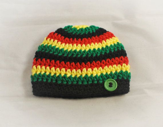Bob Marley Hat Bob Marley Beanie MADE TO ORDER by AdorablyHooked Crochet  Mens Hat Pattern 645a076819d