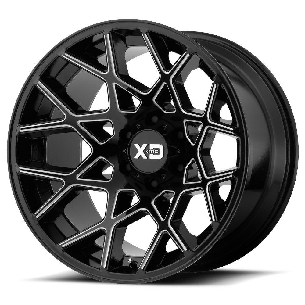 "XD Series Chopstix Wheel 20""X10"" Gloss Black And Milled"