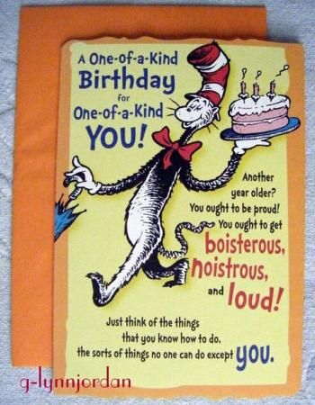 Free Printable Birthday Cards Hallmark Dr Seuss One Of A Kind Birthday Greet Free Printable Birthday Cards Birthday Card Printable Birthday Card Template
