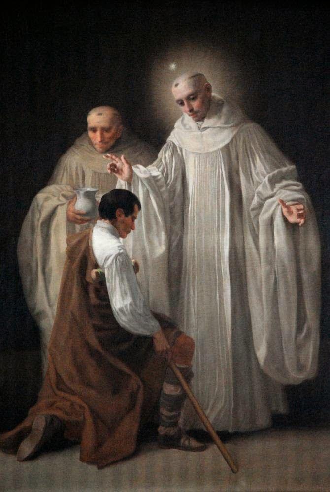 Los santos Bernardo de Claraval y Roberto, par Francisco de Goya