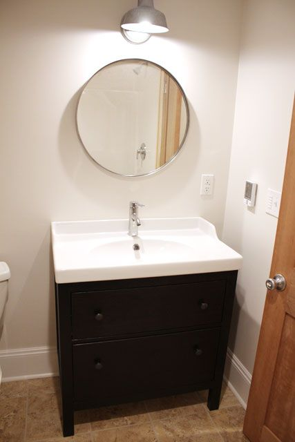 Bathroom Mirror Installation ikea grundtal mirror | basement remodeling inspiration | pinterest