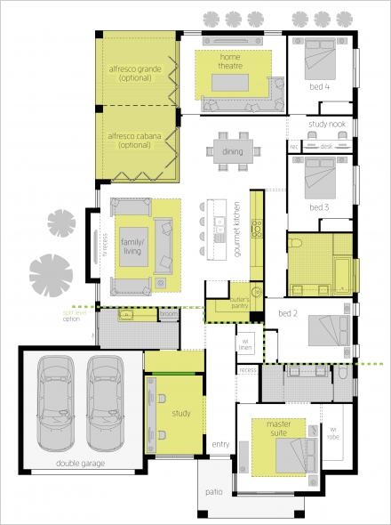 Portsea One Upgrades Floor Plan My House Plans Dream House Plans New House Plans