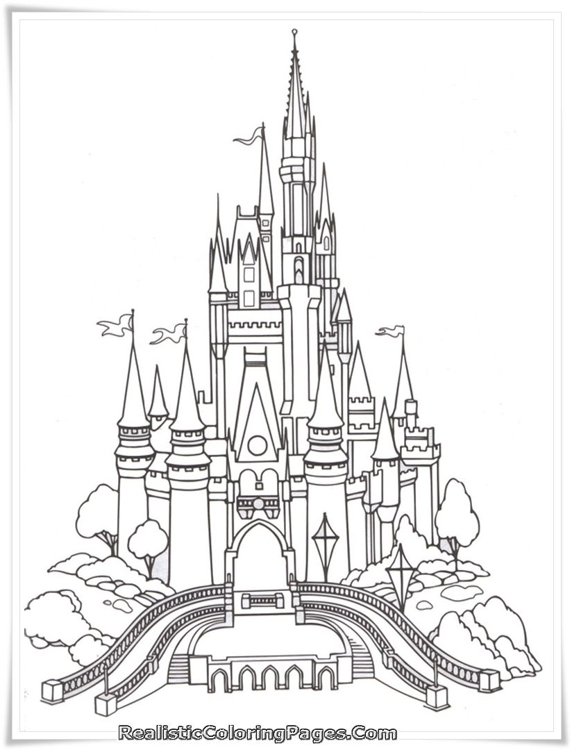 Castle Coloring Pages For Adults Castle Coloring Page Disney Activities Disney Castle Drawing