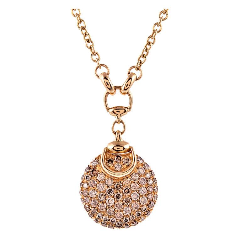 954f02c05ad GUCCI  Horsebit  Diamond Yellow Gold Drop Necklace -  6800