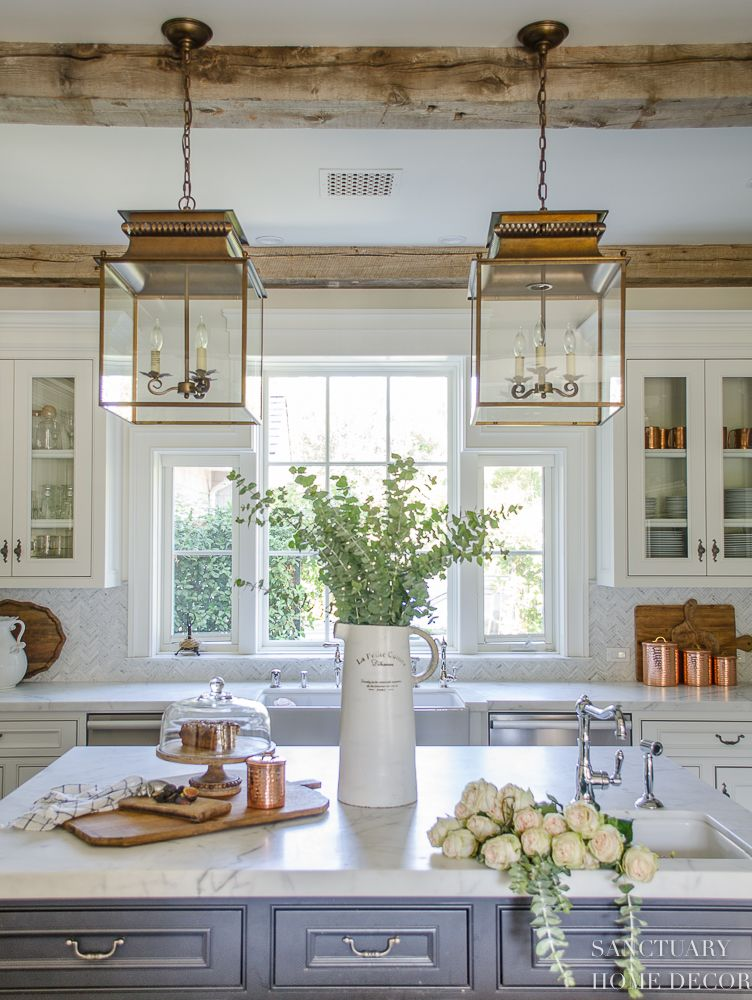 Neutral Fall Decorating My Home Tour Glass Kitchen