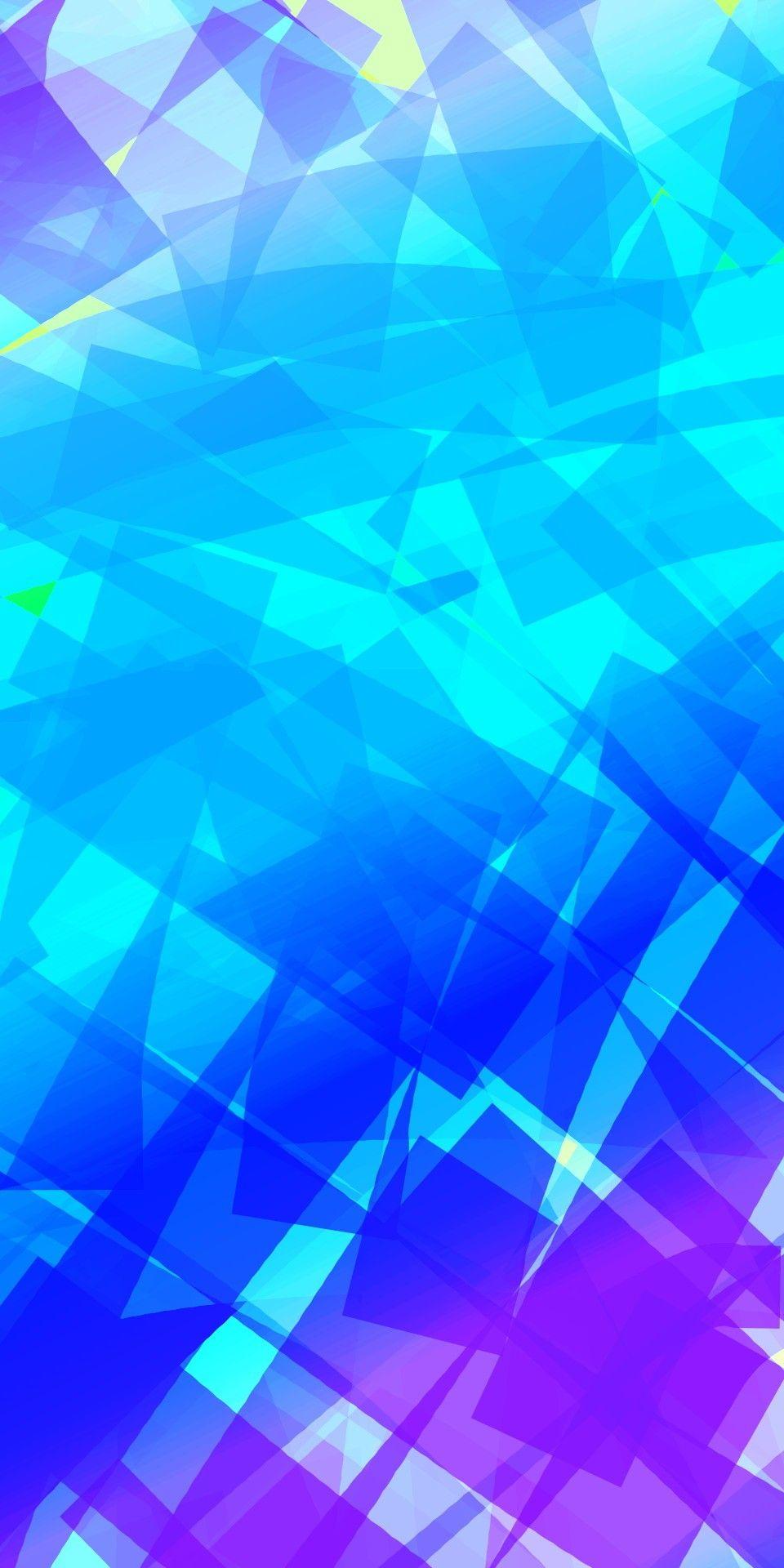 Flat Blue Shards Phone Wallpaper Abstract Wallpaper
