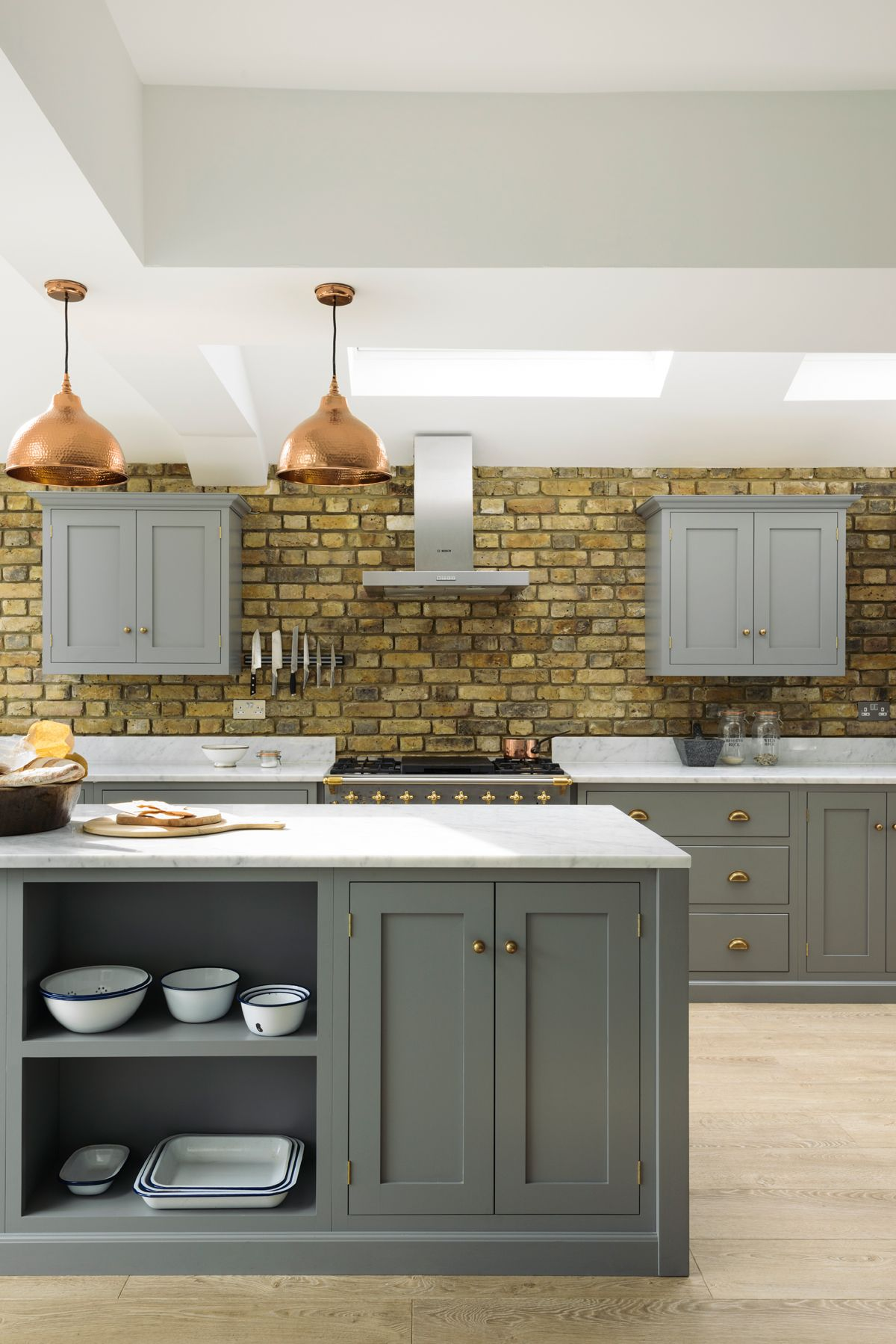 This 'Lead' grey kitchen used a clever mix of open and