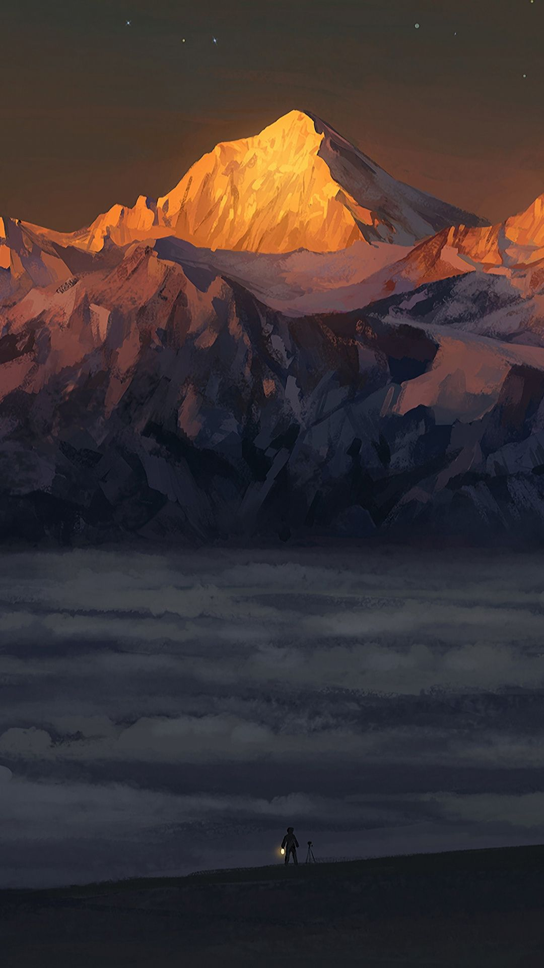 Fantasy Mountain Scenery Art