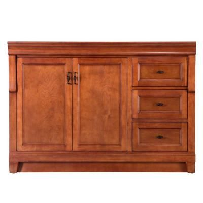Home Decorators Collection Naples 48 In W Bath Vanity Cabinet Only In Warm Cinnamon With Right Hand Drawers Naca4821d The Home Depot Vanity Cabinet Bath Vanities Bathroom Vanities Without Tops