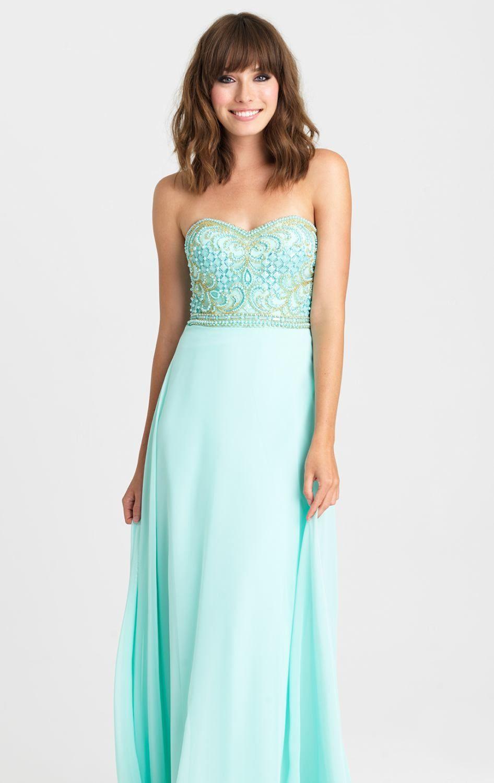 Allure 16353 dress strapless dress