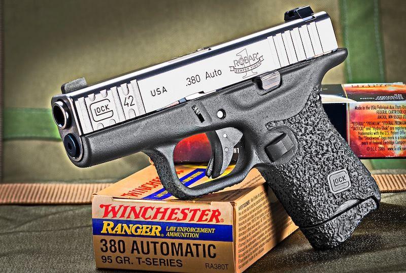 Robar Glock 42 ( 380) - Vickers Slide Stop & Mag Release, textured