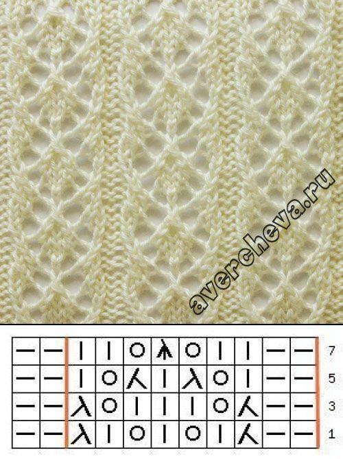 Photo of Hübsches Spitzen-Strickmuster Nr. 719 n. Chr. Diamond Rib. Versuchen Sie, ein e…