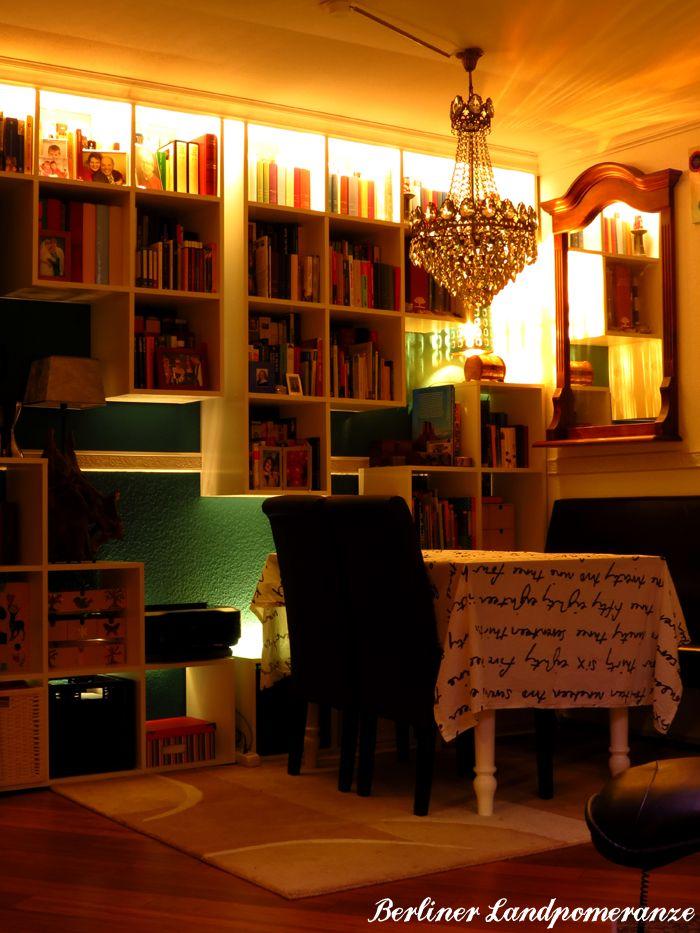 Indirekte Beleuchtung Im Wohnzimmer: Bücherregal Indirect Lighting In The  Living Room: Bookcase