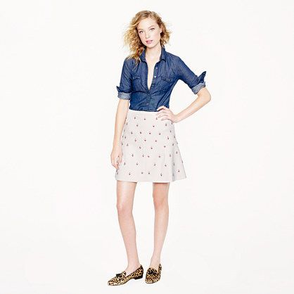 J.Crew Collection fluted skirt in embellished double crepe | #Chic Only #Glamour Always