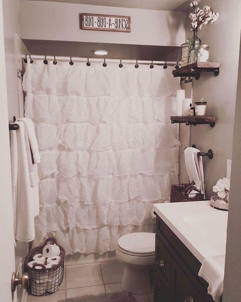 77 Easy And Modern Farmhouse Bathroom Decor Ideas Farmhouse Shower Farmhouse Bathroom Decor Bathroom Design Decor