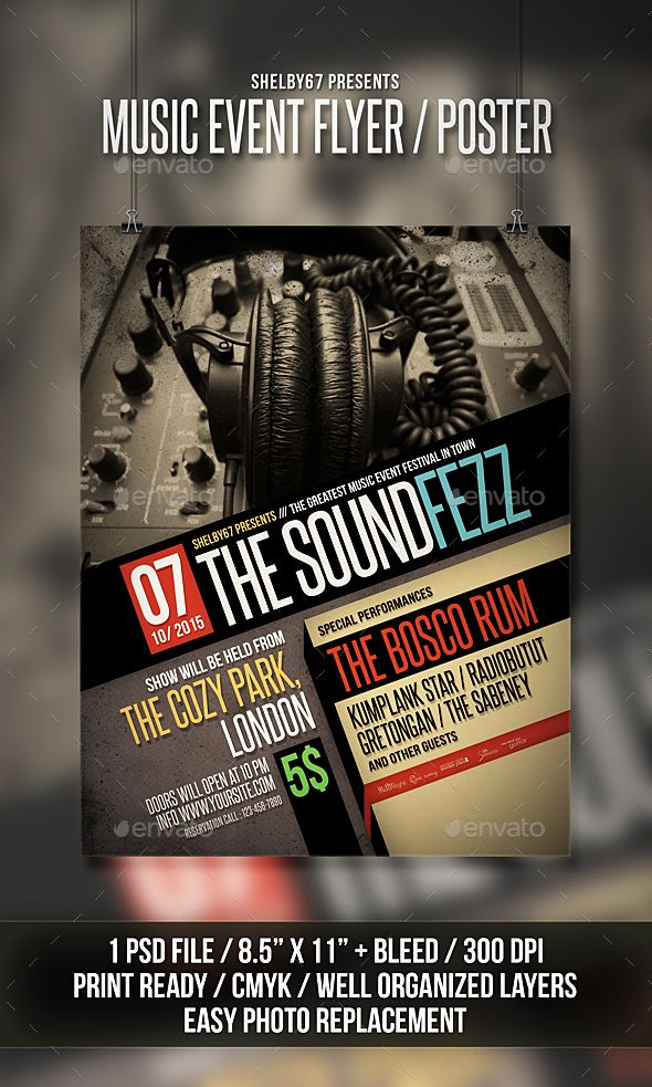 music event flyer poster print templates flyers events to make