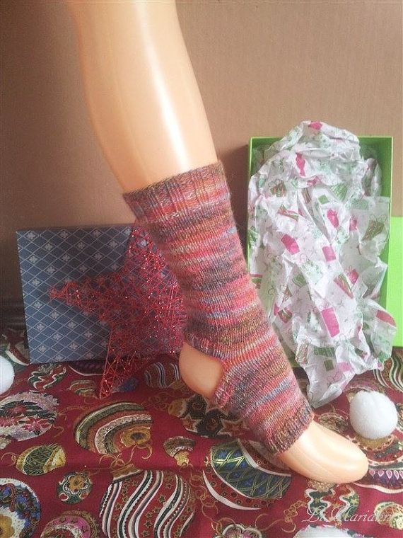 Yoga Socken tanzen Pilates gestrickt superwash von LiMariann