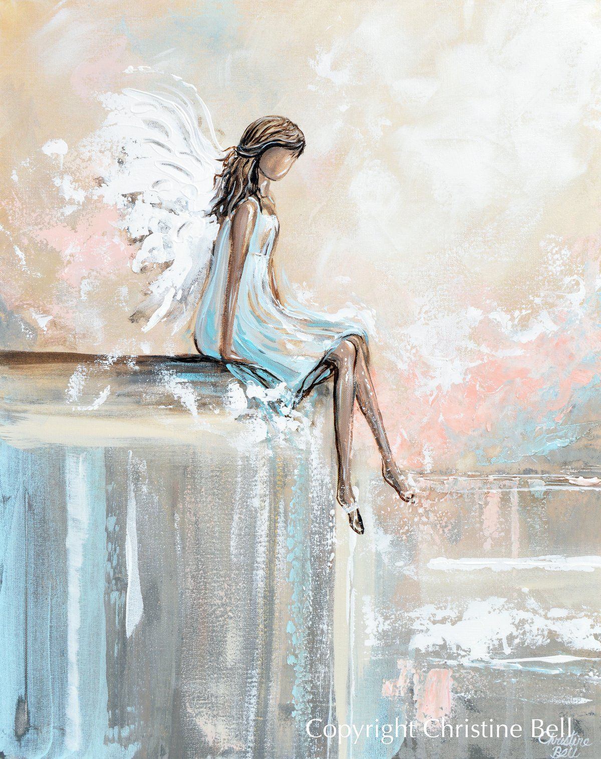 Angel Paintings Angels Giclee Canvas Prints Spiritual Wall Art Decor Contemporary Art By Christine Angel Painting Angel Wall Art Abstract Art Painting