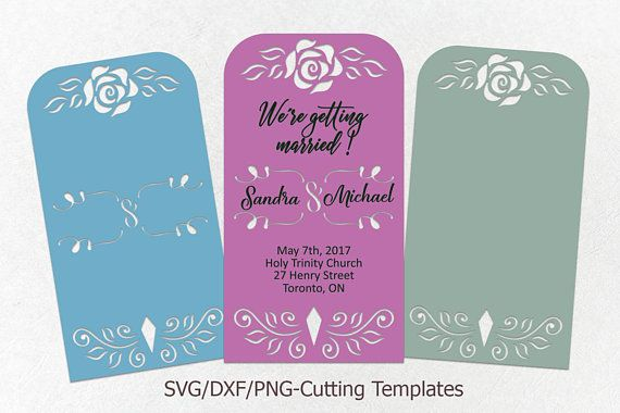 Wedding Invitation Svg Cricut Wedding Invitation Template Rose