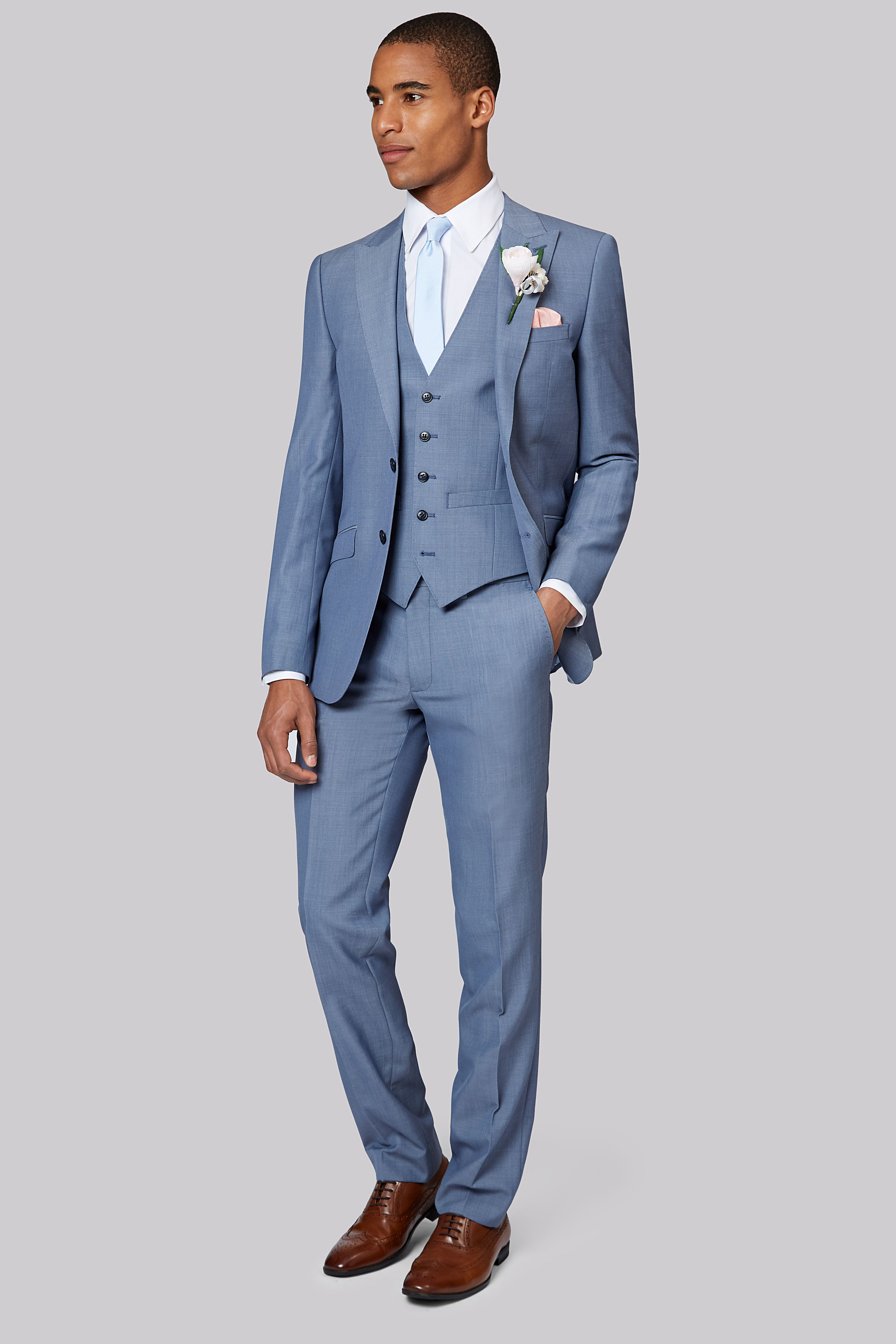 Best Moss London Ice Blue Suit In 2020 Prom Suits For Men 400 x 300