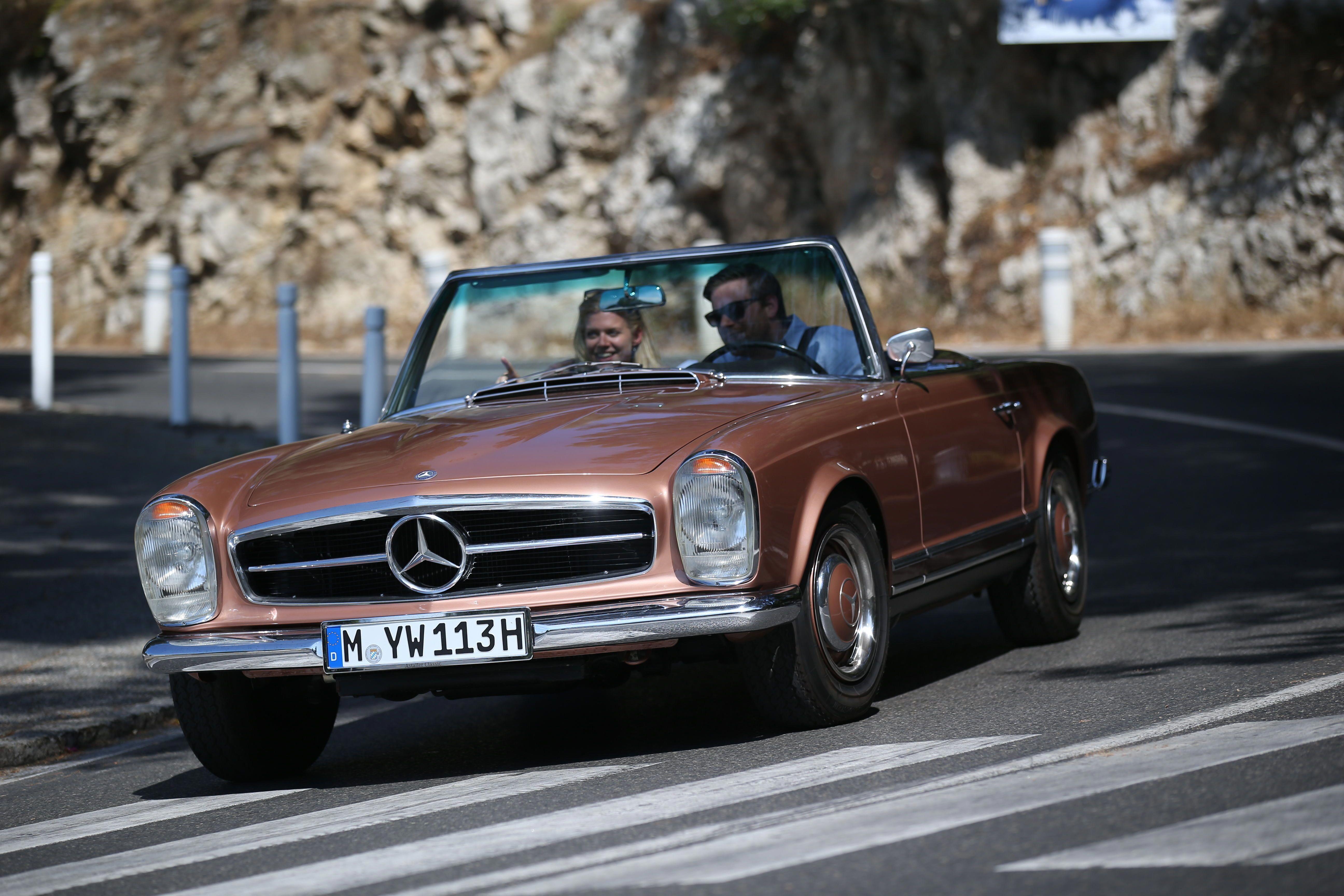 Driving Along Winding Streets Mercedesbenzclassiccars Mercedes