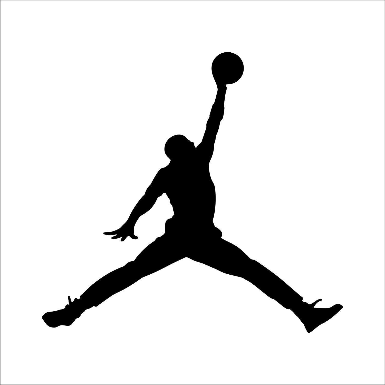 Sticker silhouette Michael Jordan   Dessin basketball