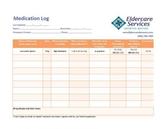 Medication List Template 52 App4ksa Medication List