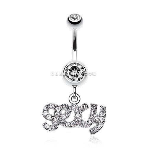Sexy' Sparkle Belly Ring (Clear)