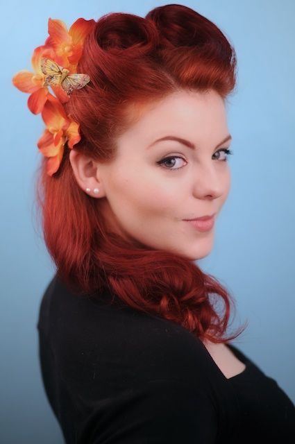 Pin By Lillian Love On Models Wearing Stuff I Make Retro Hairstyles 1940s Hairstyles Vintage Hairstyles