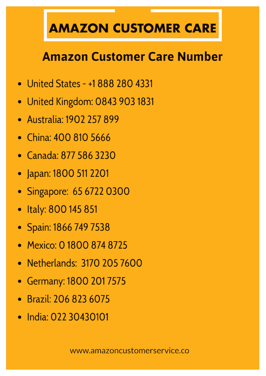 Amazon Customer Care Number Phone Number