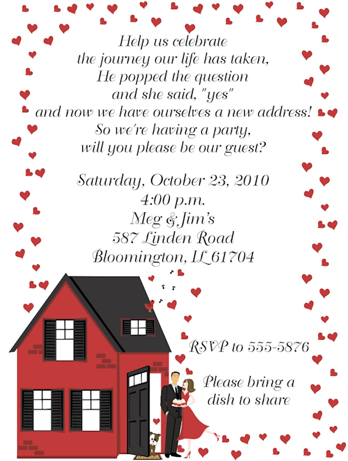 HousewarmingEngagement Party invitation – How to Word Engagement Party Invitations