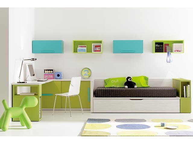 Dormitorios juveniles y modernos dise o y decoraci n - Habitaciones pequenas ninos ...