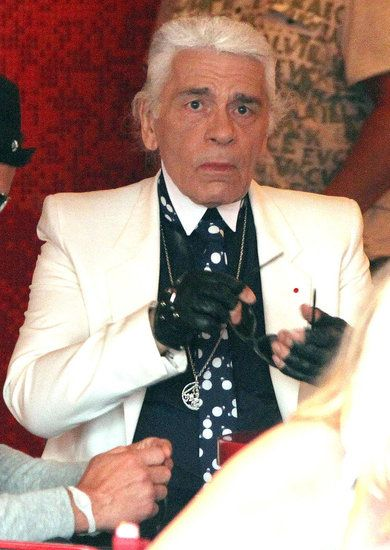 Karl Lagerfeld (without his sunglasses)