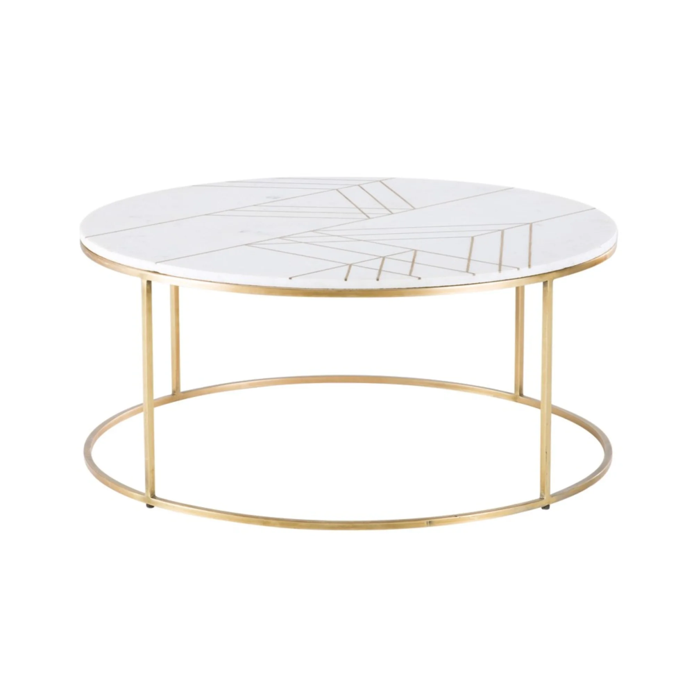 Table Basse Ronde En Marbre Blanc Et Fer Dore Table Basse Marbre Blanc Table Basse Marbre Table Basse Ronde