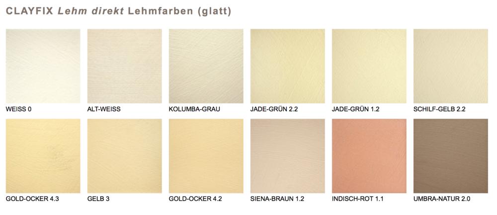 Natürliche Wandfarben reine lehmfarben in 12 natürlichen farbtönen ohne pigmente claytec