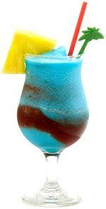 Hawaii Five-O (2 oz light rum 2 oz Blue Curacao liqueur 1 oz sweet and sour mix 3 oz pineapple juice)
