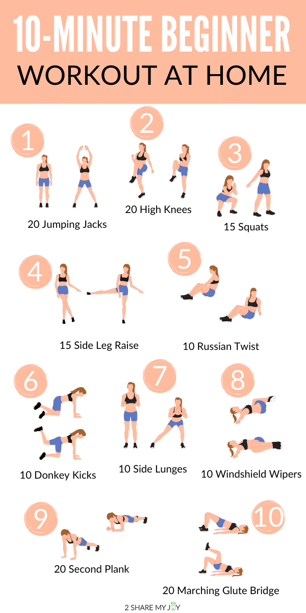 10 Minutes Beginner Workout At Home.