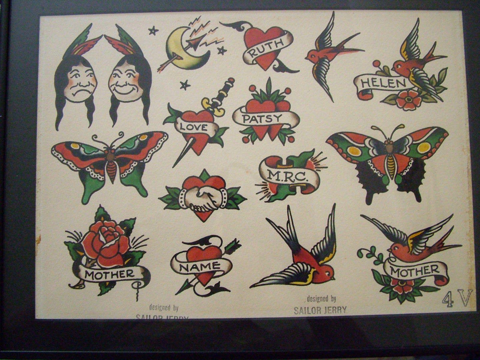 Sailor Jerry Tattoos Sailor Jerry Tattoo Flash Sailor Jerry Tattoos Sailor Jerry