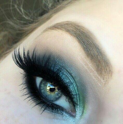 pinsukhpreet on face  eyes makeup  mermaid eye