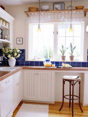 9 Desayunadores para Cocinas Pequeñas | Cocina pequeña, Pequeños y ...
