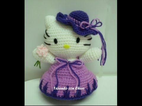 Tutorial amigurumi Hello Kitty - Sombrero (mod-3) - YouTube | step ...
