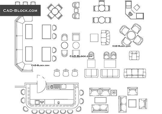 Furniture For Bar Amp Restaurant Free Autocad Blocks