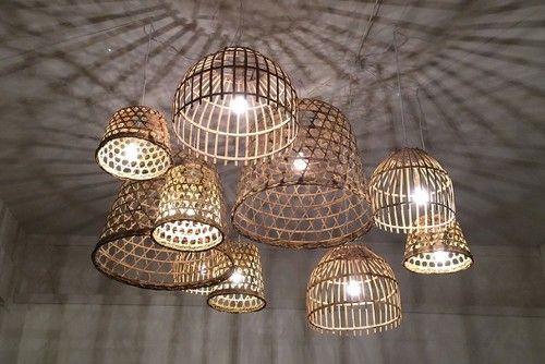 Abat Jour Panier En Bambou Tine K Home Lampe Bambou Abat Jour Osier Deco Luminaire