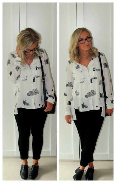 Ultimate Catlady Outfit   Outfit of the day Katzebluse Budapester Zara