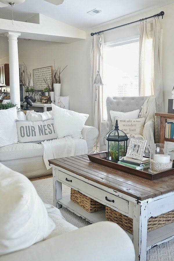 The Key To Comfortable Cottage Style Decorating Farmhouse Decor Living Room Farm House Living Room Shabby Chic Living Room