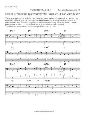 constructing walking jazz bass lines book III bass tab edition jazz ...